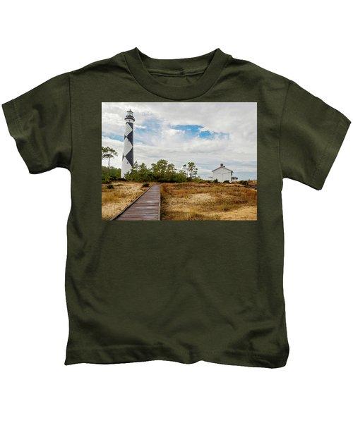Cape Lookout Lighthouse No. 2 Kids T-Shirt
