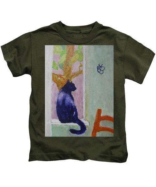 cat named Seamus Kids T-Shirt