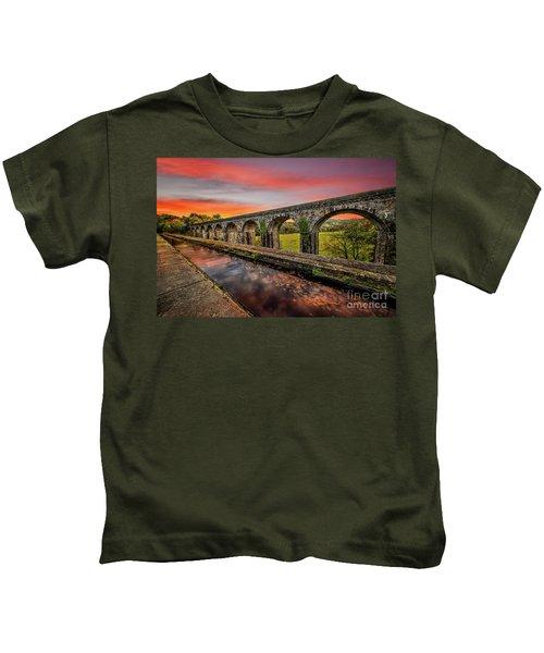 Chirk Aqueduct Sunset Kids T-Shirt