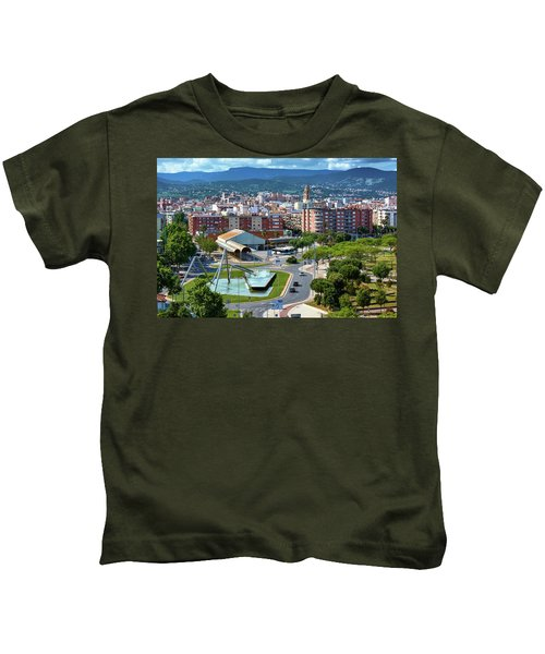 Cityscape In Reus, Spain Kids T-Shirt