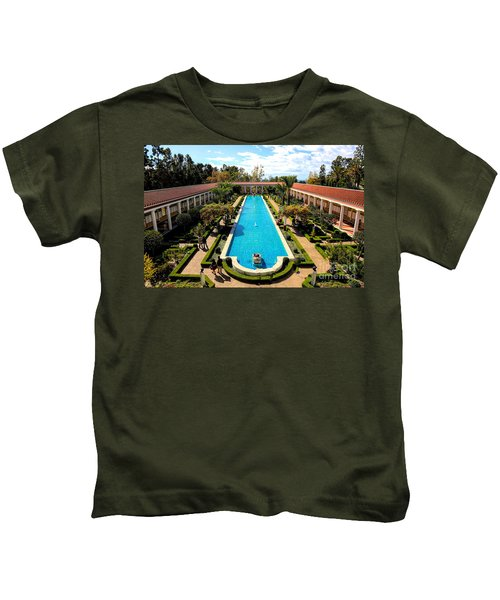 Classic Awesome J Paul Getty Architectural View Villa  Kids T-Shirt