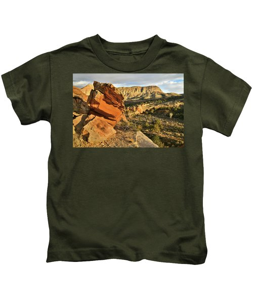Cliffside Rock Cropping In Colorado National Monument Kids T-Shirt