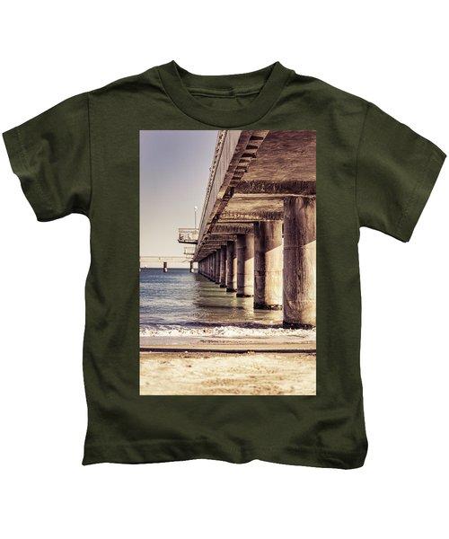 Columns Of Pier In Burgas Kids T-Shirt