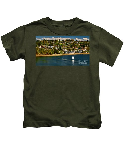 Commencement Bay,washington State Kids T-Shirt