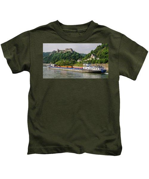 Commerce Along The Rhine Kids T-Shirt