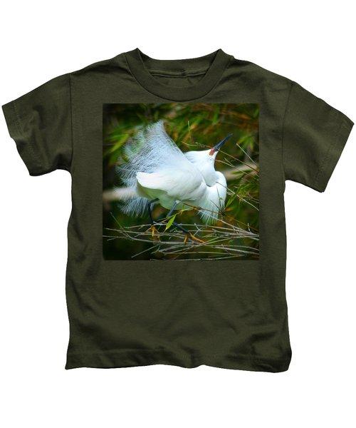 Dancing Egret Kids T-Shirt