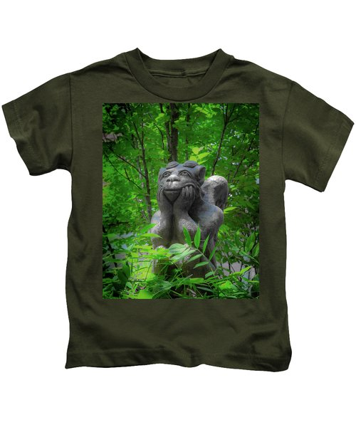 Daydreaming Gargoyle Kids T-Shirt