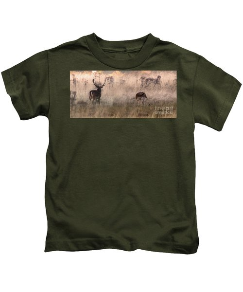 Deer In The Grasses Kids T-Shirt