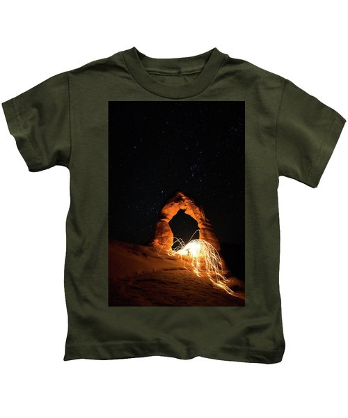 Delicate Arch Steel Wool Kids T-Shirt
