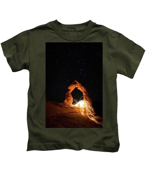 Delicate Arch Steel Wool Kids T-Shirt