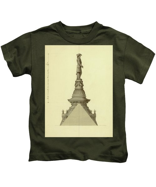 Design For City Hall Tower Kids T-Shirt