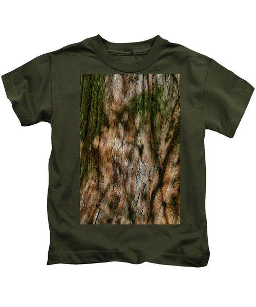 Detail Of Bark On Huge  Tree Kids T-Shirt