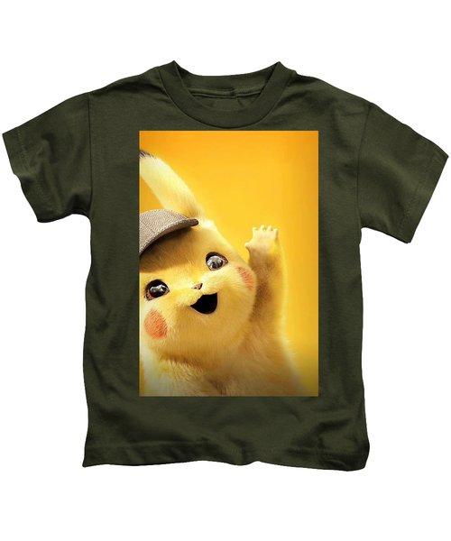 Detetive Pikachu Kids T-Shirt