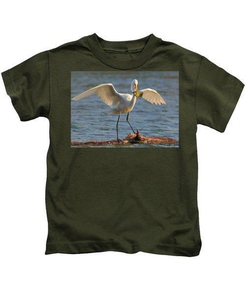 Egret  Kids T-Shirt