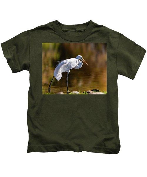 Egret Yoga Kids T-Shirt