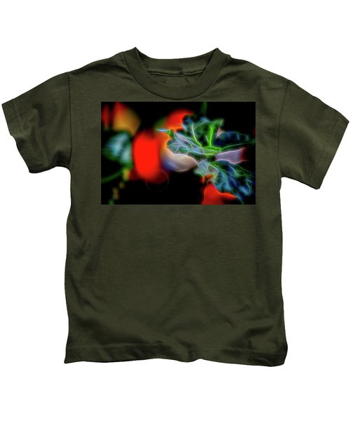 Electric Leaves Kids T-Shirt