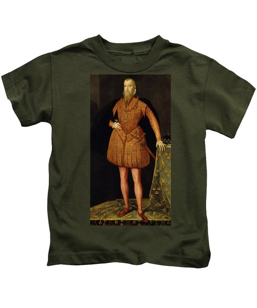 Erik Xiv, 1533-1577, King Of Sweden Kids T-Shirt