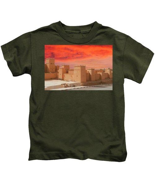 Exterior Buildings Of Kasbah Taourirt Kids T-Shirt