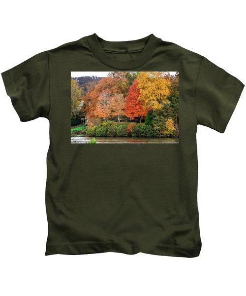 Fall At The Lake Kids T-Shirt