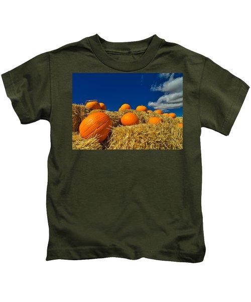 Fall Pumpkins Kids T-Shirt