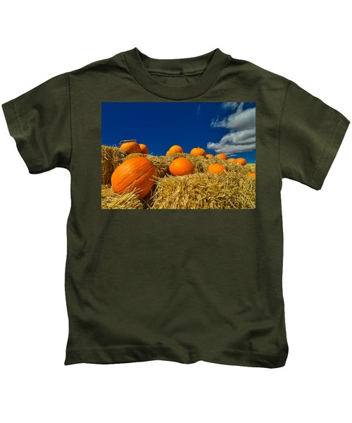 Fall Pumpkins Kids T-Shirt