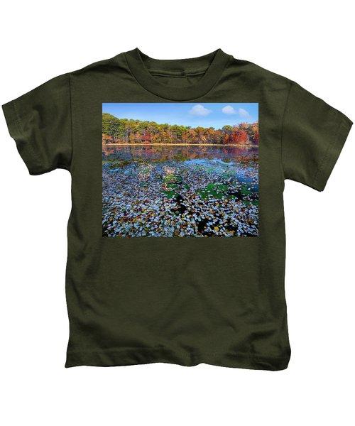 Fallen Leaves On Lake, Daingerfield Kids T-Shirt