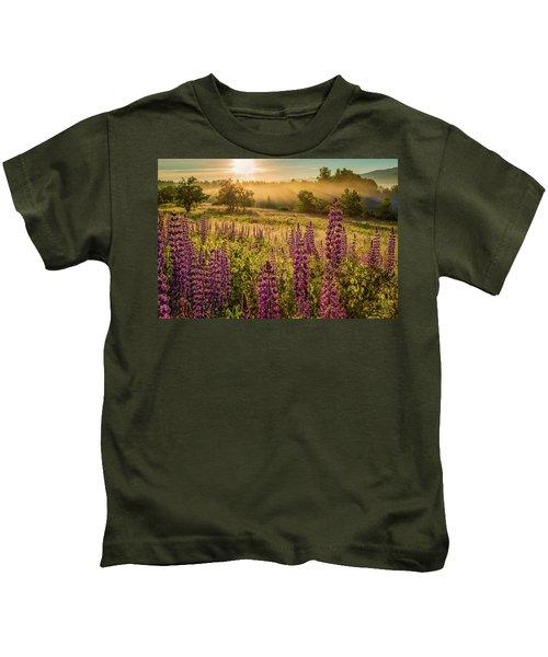Fields Of Lupine Kids T-Shirt