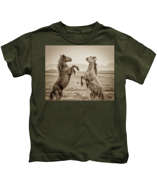 Fighting Stallions 2 Kids T-Shirt
