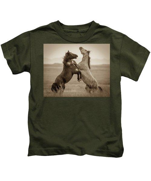Fighting Stallions Kids T-Shirt