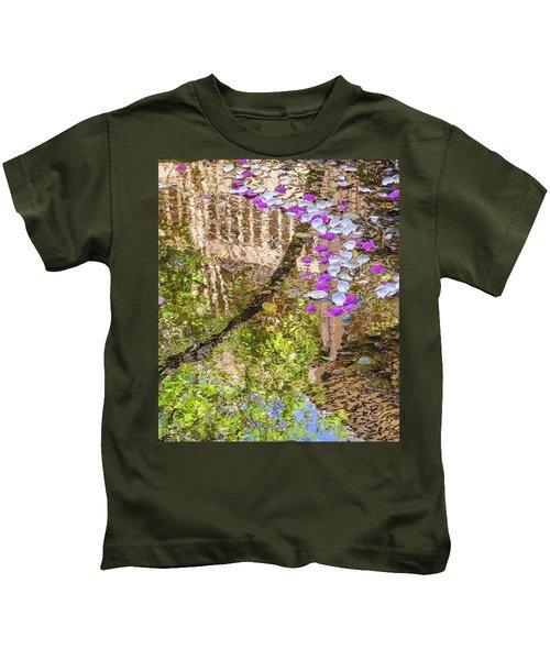 Floating Magnolia Petals Kids T-Shirt