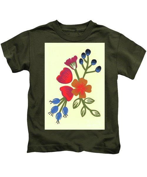 Flora, Cut Paper Kids T-Shirt