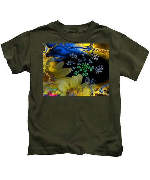 Flower Power In The Modern Age Kids T-Shirt