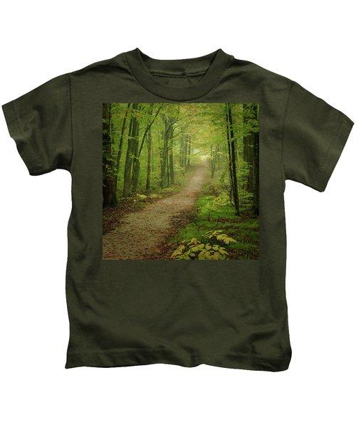 Foggy Path Kids T-Shirt