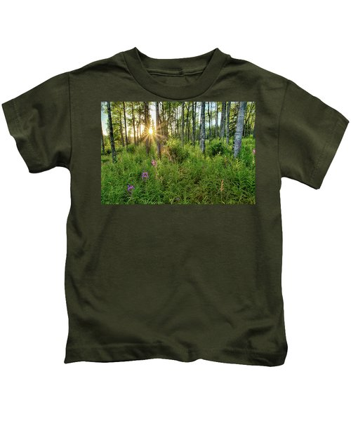 Forest Growth Alaska Kids T-Shirt