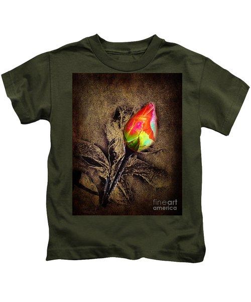 Glowing Rose Kids T-Shirt