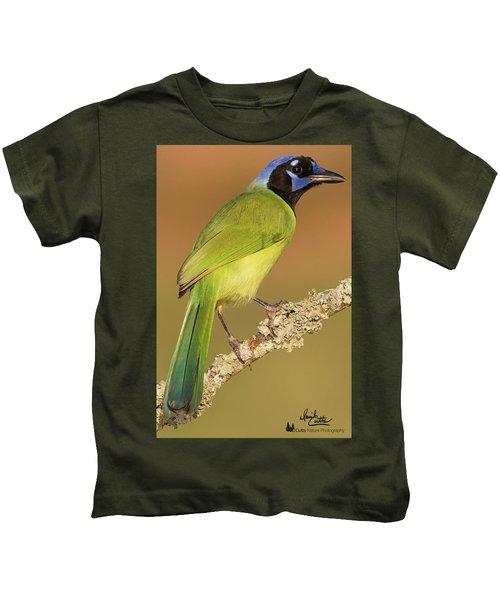 Gorgeous Green Jay Kids T-Shirt