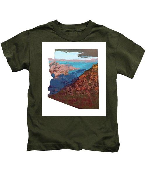 Grand Canyon In The Shape Of Arizona Kids T-Shirt