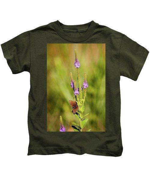Gray Copper On Blazing Star Kids T-Shirt