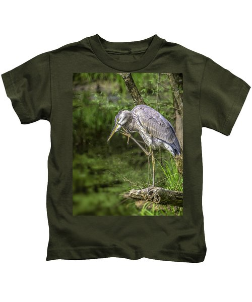 Great Blue Heron Itch Kids T-Shirt