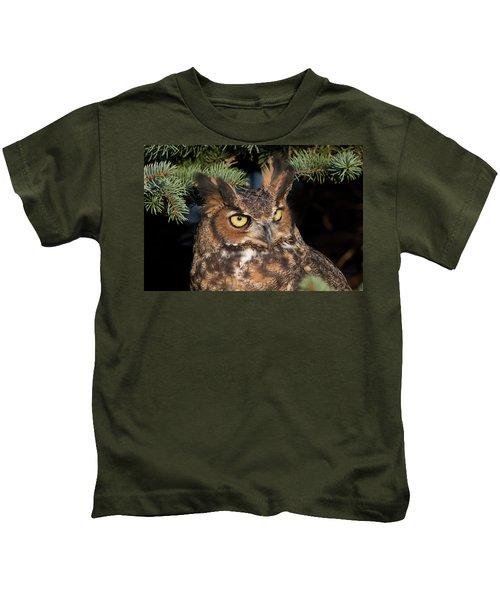 Great Horned Owl 10181802 Kids T-Shirt