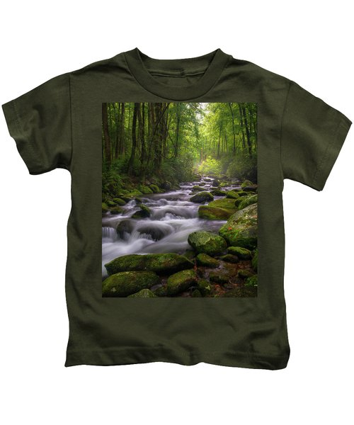 Great Smoky Mountains Gatlinburg Tennessee Kids T-Shirt