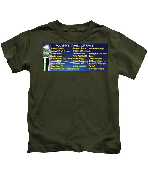 Hall Of Fame, Roosevelt, Ny Alums Kids T-Shirt