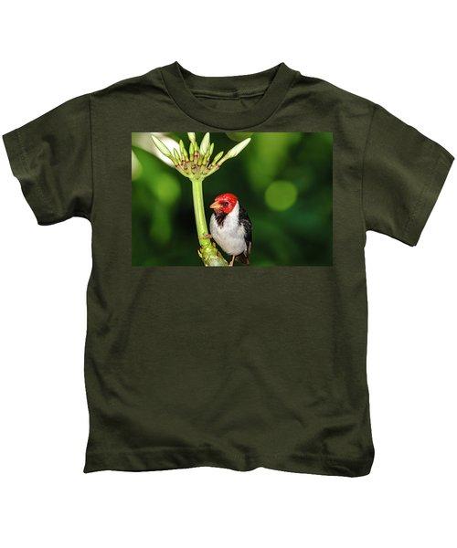 Happy Valentine's Day Bird Kids T-Shirt