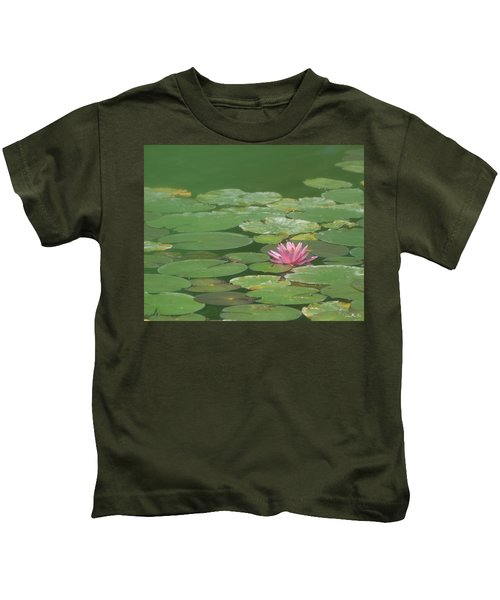 Harmonious Pink Waterlily Kids T-Shirt