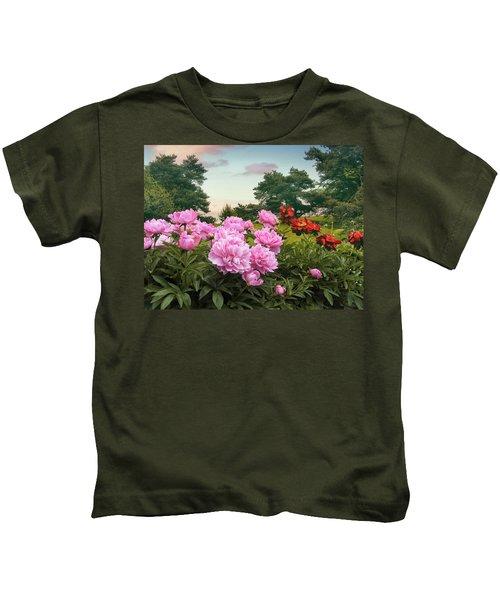 Hillside Peonies Kids T-Shirt
