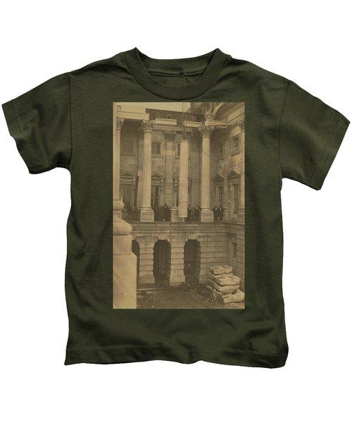 Hoisting Final Marble Column At United States Capitol Kids T-Shirt