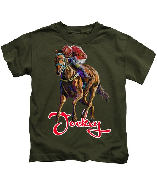 Horse And Jockey Kids T-Shirt