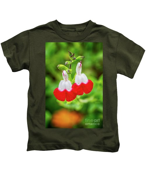 Hot Lips Flower Kids T-Shirt