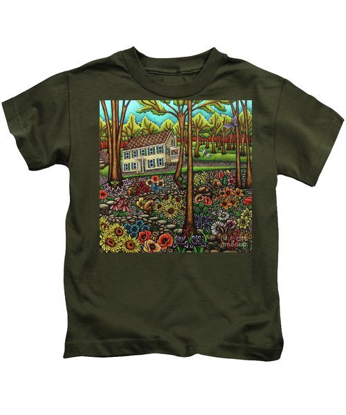 House In The Meadow  Kids T-Shirt