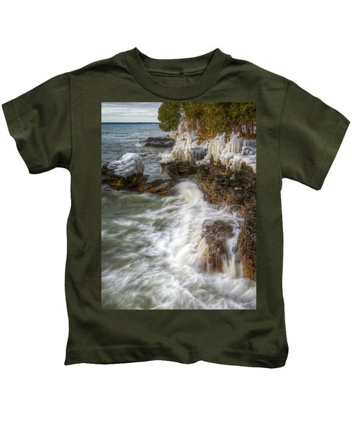 Ice And Waves Kids T-Shirt